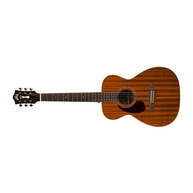 Guild M-120LE Natural, Westerly 120 Series All Solid Mahogany Left Handed Acoustic w/Case and Pickup