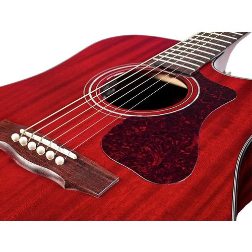 Guild D-120CE CHR, Westerly 120 Series All Solid Acoustic  Cutaway Electric, w/Case