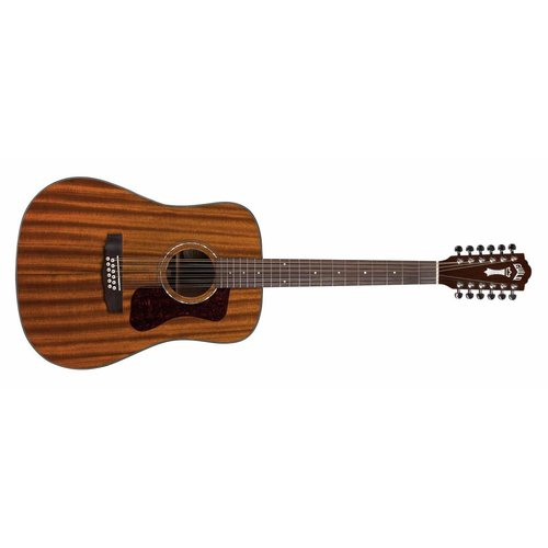 Guild D-1212E Natural, Westerly 120 Series, All Solid Mahogany,  w/Pickup & Case