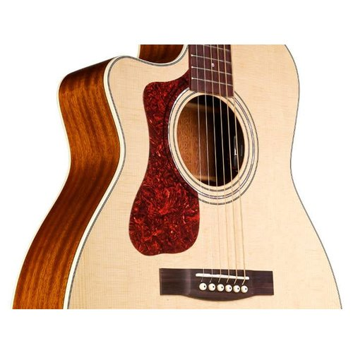 Guild OM-140LCE Natural, Westerly 140 Series All Solid Orchestra style Left Handed Cutaway Acoustic/Electric w/Case