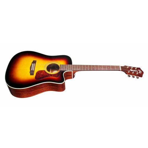 Guild D-140CE Antique Sunburst, Westerly 140 Series All Solid Cutaway Acoustic/Electric w/Case