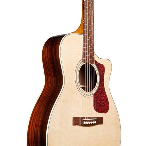 Guild OM-150CE Natural, Westerly 150 Series All Solid Orchestra style Cutaway Acoustic/Electric w/Case