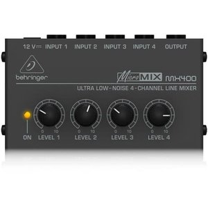 Behringer MX400 Ultra Low-Noise 4-Channel Line Mixer