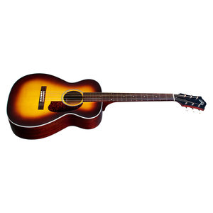 Guild M-40E Troubadour Antique Sunburst, USA Series, Concert Style Acoutstic, All Solid Mahogany B&S/Sitka Spruce Top, LR Baggs Element & VTC, w/Case