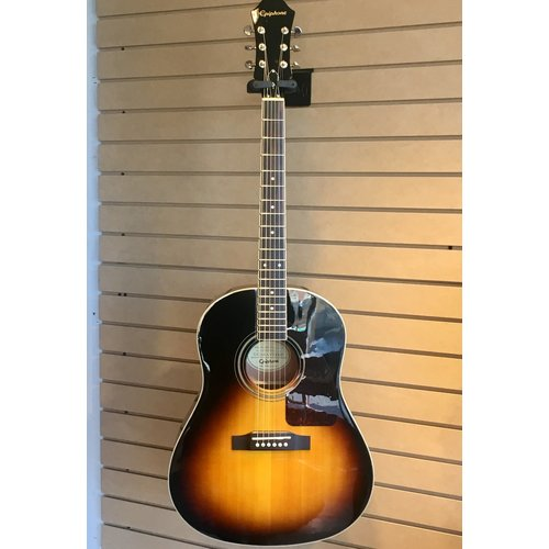 Epiphone Used Solid Spruce Top Jumbo Guitar in Vintage Sunburst