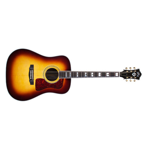 Guild D-55 Antique Sunburst, USA Series, All Solid Rosewood B&S/Sitka Spruce Top,  w/Case