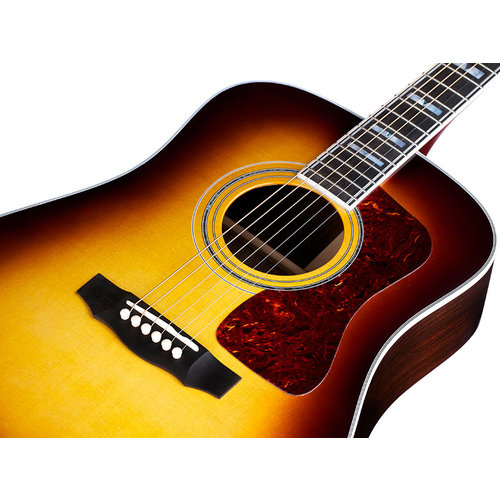 Guild D-55E Antique Sunburst, USA Series, All Solid Rosewood B&S/Sitka Spruce Top, LR Baggs Element & VTC,  w/Case