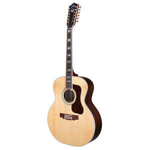 Guild F-512 Natural, USA Series, All Solid Rosewood B&S/Sitka Spruce Top,  w/Case