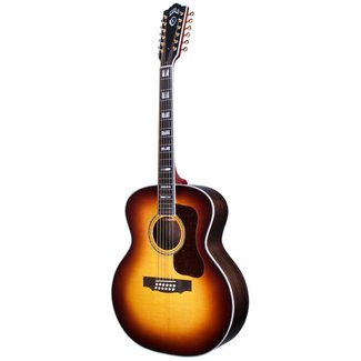 Guild F-512 Antique Sunburst, USA Series, All Solid Rosewood B&S/Sitka Spruce Top,  w/Case
