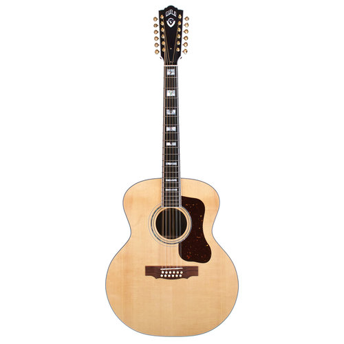 Guild F-512E Natural, USA Series, All Solid Rosewood B&S/Sitka Spruce Top, LR Baggs Anthem Pickup, w/Case