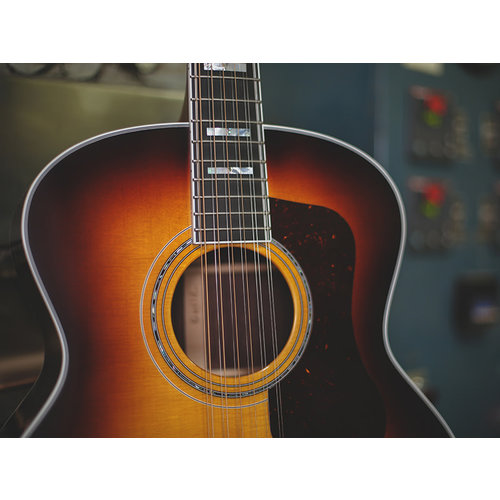 Guild F-512E Antique Sunburst, USA Series, All Solid Rosewood B&S/Sitka Spruce Top, LR Baggs Anthem Pickup, w/Case