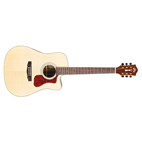 Guild D-150CE Natural, Westerly 150 Series All Solid Cutaway Acoustic/Electric w/Case