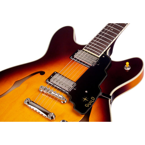 Guild Starfire IV ST Maple Vintage Sunburst Semi-Hollow-Body w/Case