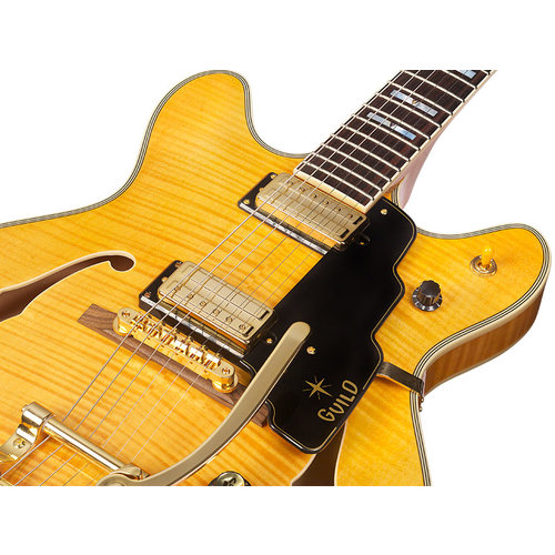 Guild Starfire VI Semi-Hollow Body w/ Guild Vibrato Tailpiece Flamed Maple Antique Natural w/Case