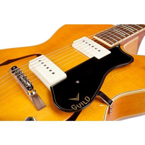 Guild X-175B Manhattan w/ Guild Vibrato Tailpiece Blonde, Hollow Body w/Case