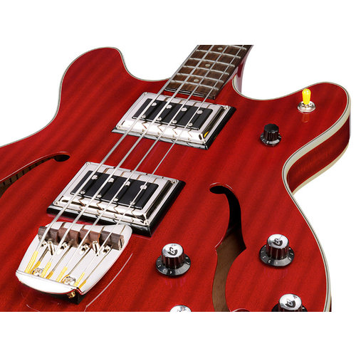 Guild Starfire Bass II Cherry Red, Semi-Hollow Body w/Case