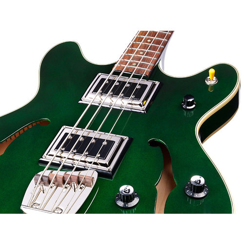 Guild Starfire Bass II Emerald Green, Semi-Hollow Body w/Case