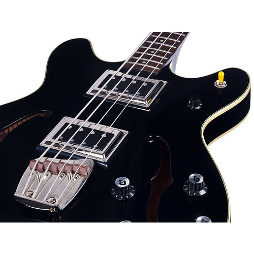 Guild Starfire Bass II Black, Semi-Hollow Body w/Case