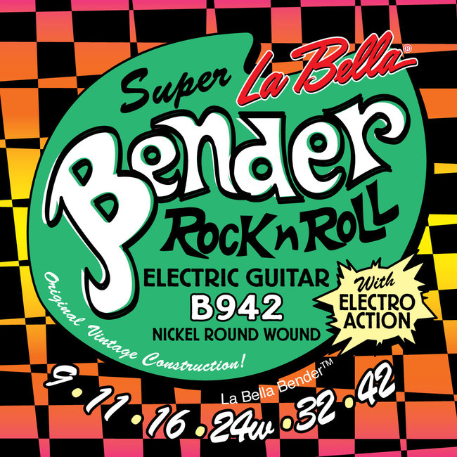 La Bella B942 Super Bender, Super Light Guage Electric Guitar Strings