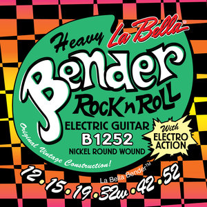 La Bella B1252 Heavy Bender, Heavy Guage Electric Guitar Strings