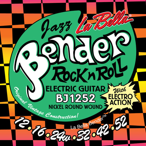La Bella BJ1252 Jazz Bender, Jazz Guage Electric Guitar Strings