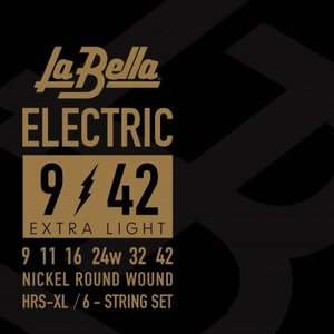 La Bella HRS-XL, Extra-Light Guage Electric Guitar Strings