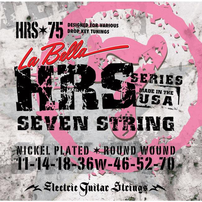 La Bella HRS-75,  7 String Electric Guitar Strings 11-70