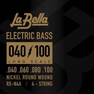 La Bella RX-N4A RX Nickel, 40-100 Long Scale Bass Strings