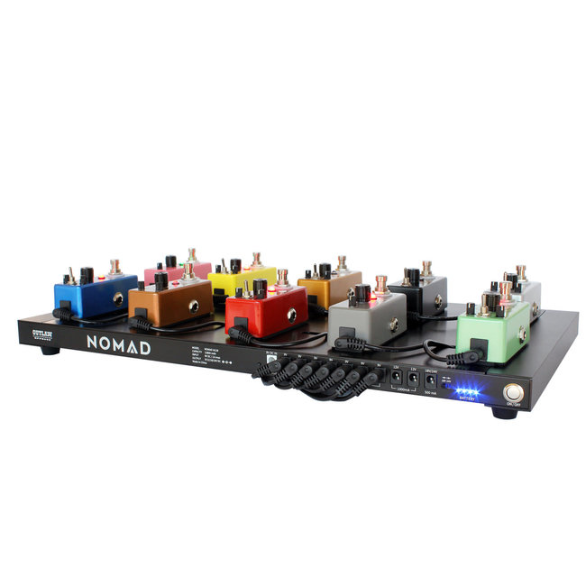 Outlaw Effects NOMAD M128 Rechargeable Powered Pedal Board