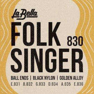 La Bella 830 Folksinger - Black Nylon