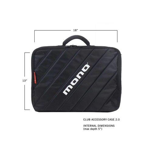 Mono M80-CLUB-V2-BLK Club 2.0 Pedalboard Case in Jet Black-Fits PFX-PB-S/LP