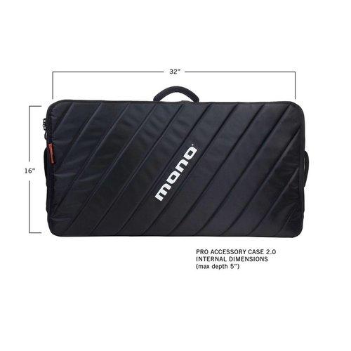 Mono M80-PRO-V2-BLK Pro 2.0 Pedalboard Case in Jet Black - Fits PFX-PB-L