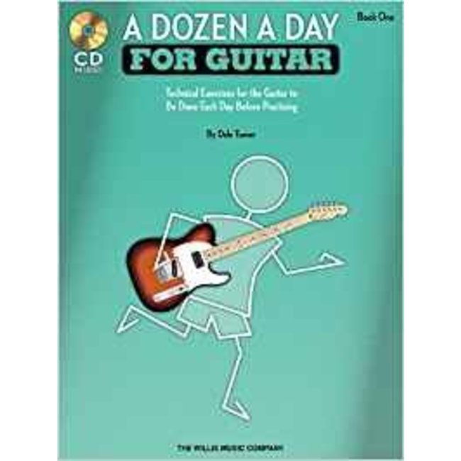 Hal Leonard A Dozen a Day for Guitar - Book 1 with CD Technical Exercises by Dale Turner