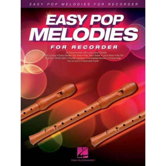 Hal Leonard Easy Pop Melodies for Recorder