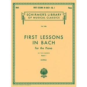 Hal Leonard First Lessons in Bach - Book 1 Piano Solo (Carroll) Piano Method