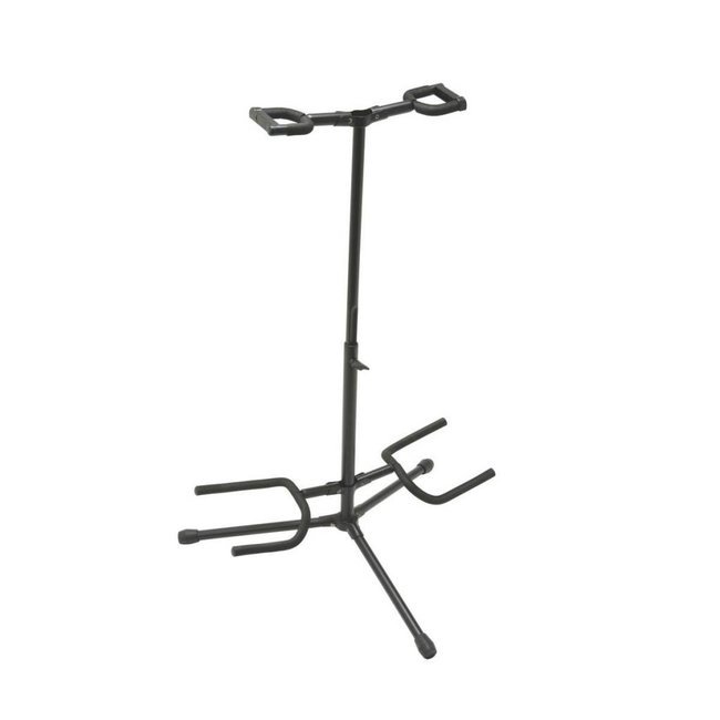 On-Stage Stands GS7221BD Double Guitar Stand -H: 19-33in -Folding Yoke
