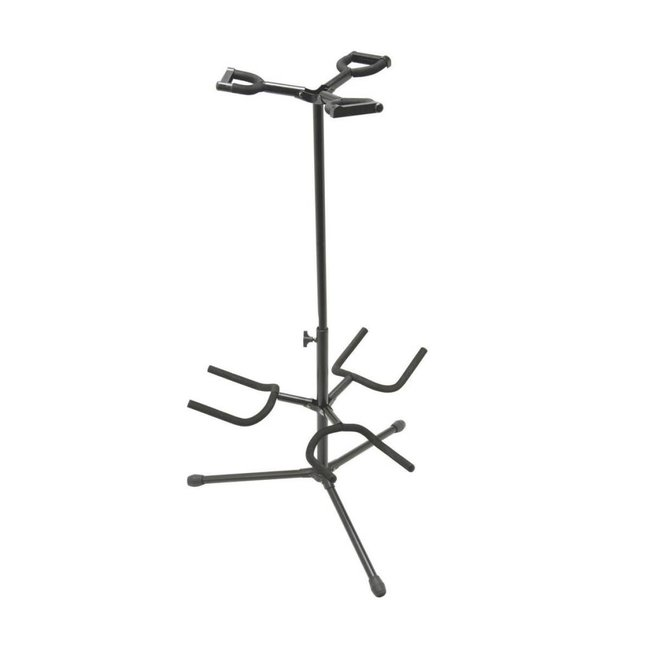 On-Stage Stands Triple Guitar Stand -H: 17-32in -Folding Yoke
