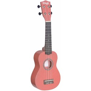 Stagg US-LIPS Pink Soprano Ukulele with Bag