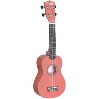 Stagg US-LIPS Pink Soprano Ukulele with Bag