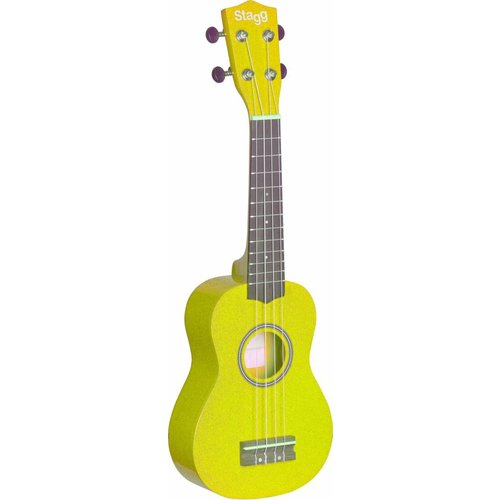 Stagg US-LEMON Yellow Soprano Ukulele With Bag