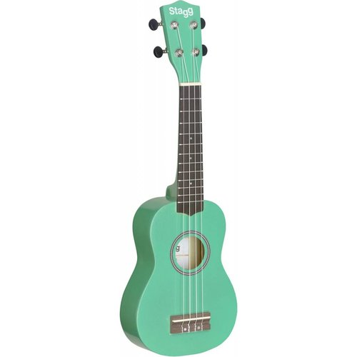 Stagg US-GRASS Green Soprano Ukulele With Bag