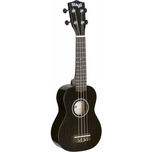 Stagg US-NIGHT Black Soprano Ukulele With Bag
