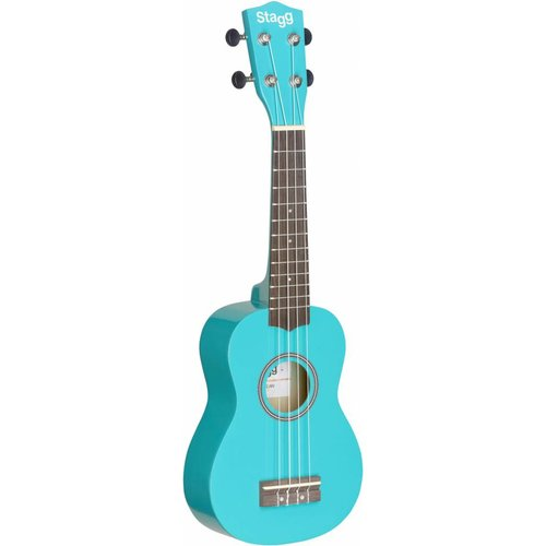 Stagg US-OCEAN Blue Soprano Ukulele with Bag