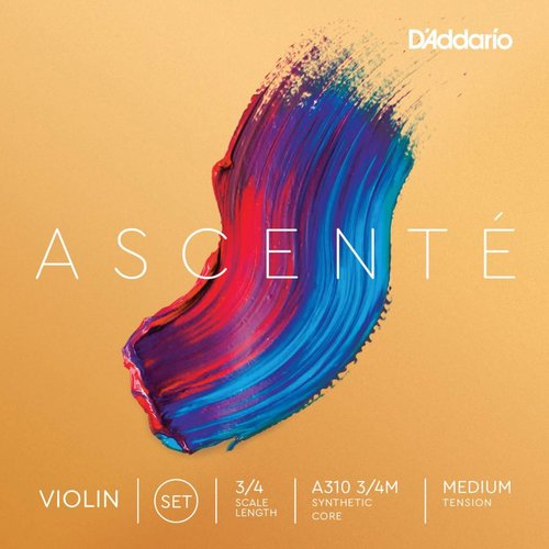 D'Addario Ascenté Synthetic Student Violin Strings 3/4 Size