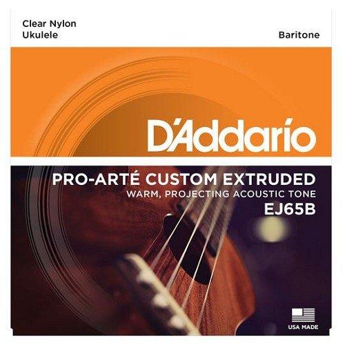 D'Addario Baritone Ukulele Strings Clear Nylon