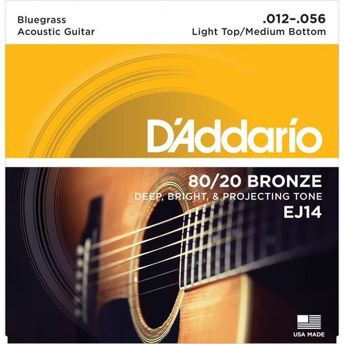 D'Addario 80/20 Bluegrass Acoustic Guitar Strings 0.12-0.56