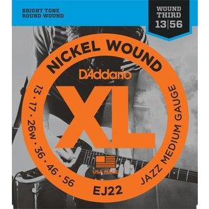 D'Addario EJ22 - Nickel Wound Electric Guitar Strings Jazz Medium 0.13-0.56