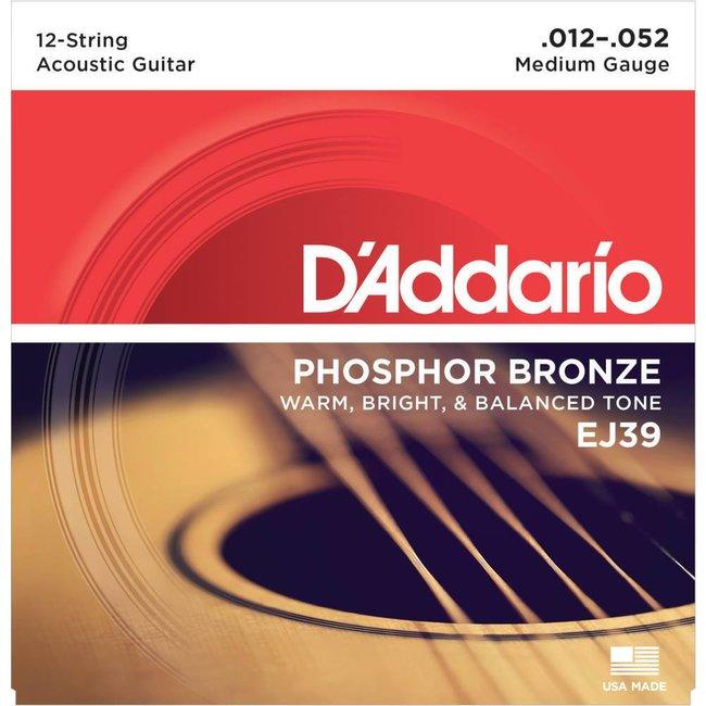 12-String Phospher Bronze Acoustic Guitar Strings Medium 012-0.52
