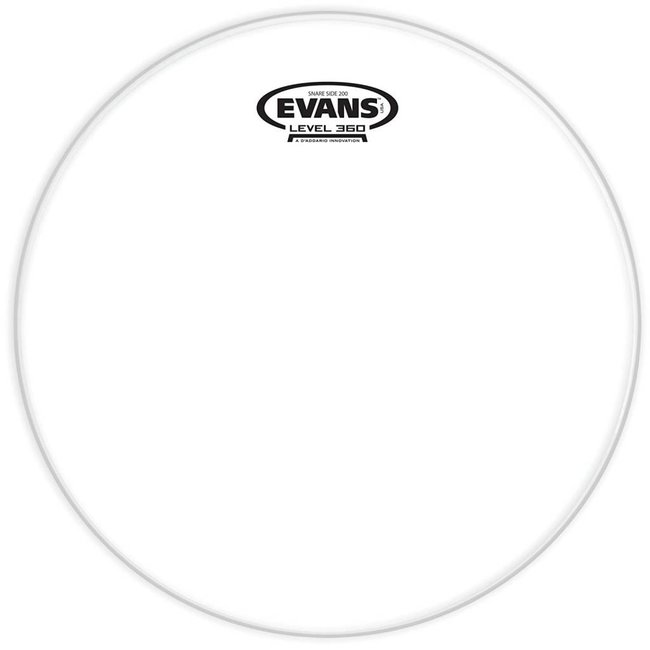 "Evans 13"" Hazy 200 Snare Bottom Head Clear"