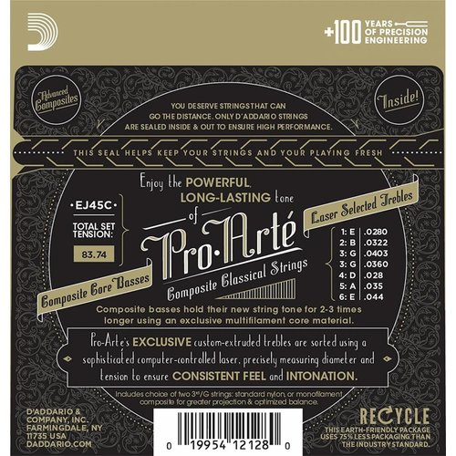 D'Addario Pro-Arte Nylon Classical Guitar Strings Normal Tension
